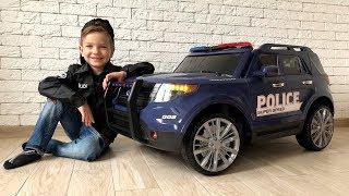 Превратил Ламборгини в большую полицейскую машинку. Видео для детей.