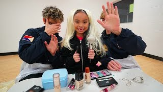 LITTLE SISTER DOES OUR MAKE UP CHALLENGE! (WHO LOOKS BETTER?)