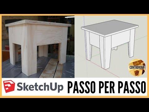 SketchUp: progetto PASSO per PASSO di uno sgabello | Fai da te, falegnameria e lavorazione del legno