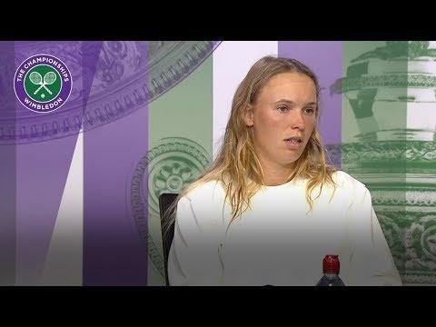 Caroline Wozniacki 'can't be mad at herself' after 2R loss | Wimbledon 2018
