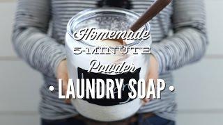 Homemade 5 Minute Powder Laundry Soap