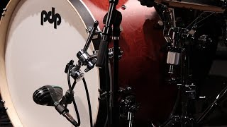 Elitch demos the versatile Bass Drum Microphone Holder (DWSM2141MA)