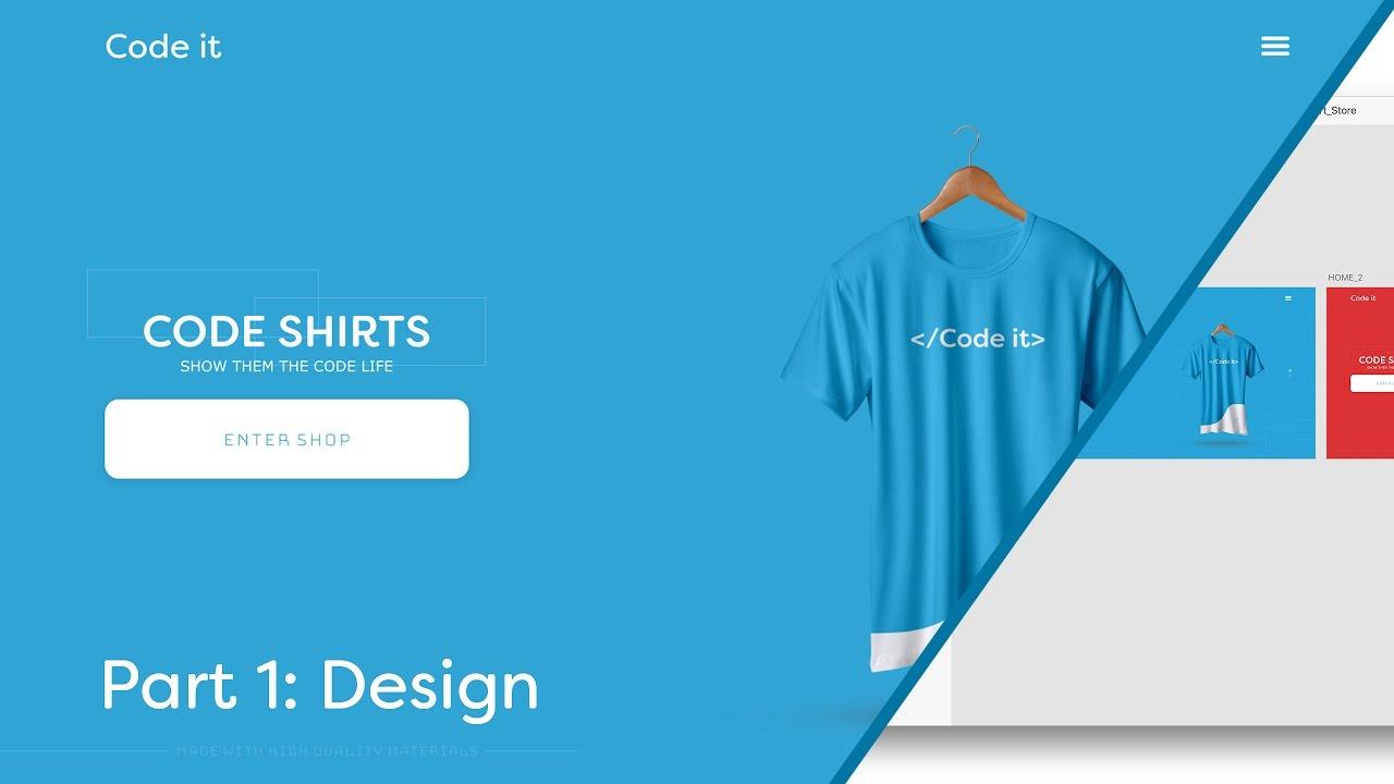 Web Design Speed Art Speed Code Shirt Store Website Part 1 Of 2