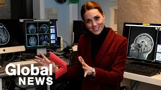Kate Middleton, Duchess of Cambridge visits neuroscience lab at London's UCL university