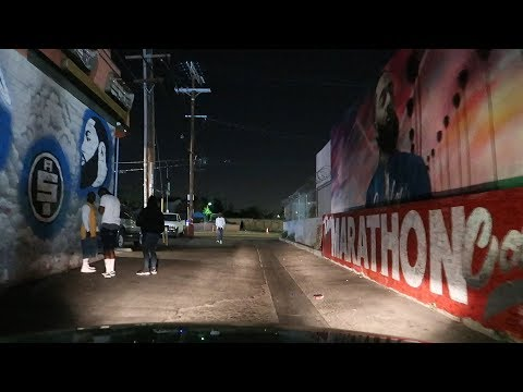 SOUTH CENTRAL LOS ANGELES AT NIGHT