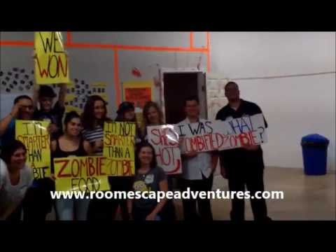 TRAPPED IN A ROOM WITH A ZOMBIE - Dallas, Texas - YouTube