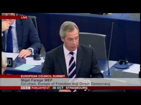 Nigel Farage getting in trouble at the EU Parliament again