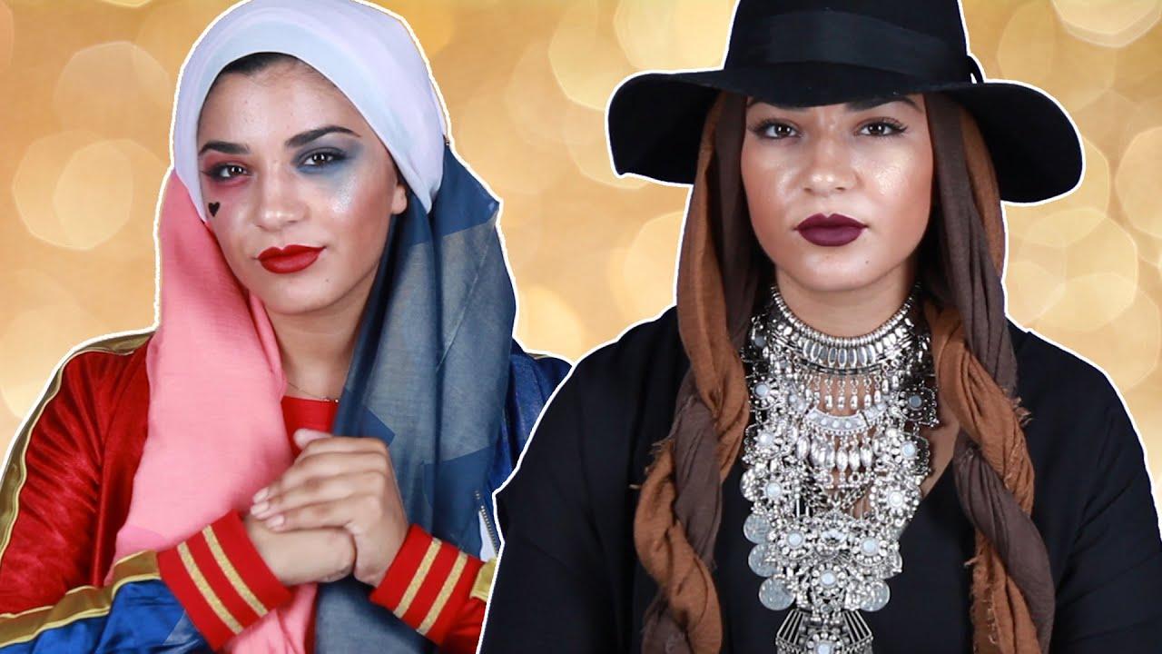 Make Up Halloween Simple Hijab.9 Halloween Hijab Looks