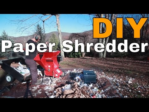 DIY Paper Shredder from Wood Chipper