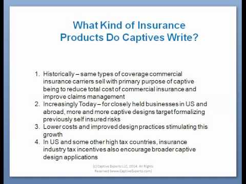 Captive Insurance Company Design Introduction - by Tom Cifelli of Captive Experts LLC
