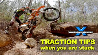 TRACTION TIPS WHEN YOU'RE STUCK: Cross Training Enduro Skills