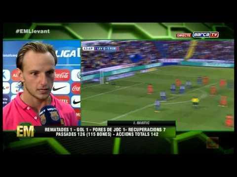 Rakitic - Entrevista Postpartido LEVANTE vs FC BARCELONA - [0-5][21-09-2014] BarçaTV