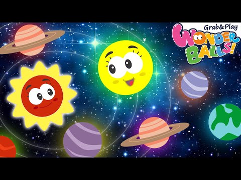 Learn Planets of the Solar System with Squishy Wonderballs | Learning Video for Kids