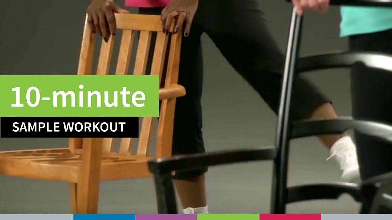 chair gym dvd set swivel ikea uk 10 minute sample workout for older adults from go4life youtube