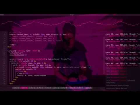 Sam Aaron live coding an ambient electro set w/ Sonic Pi