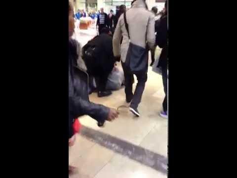 Brutal Gang War stabbing in Westfield shopping center Stratford London