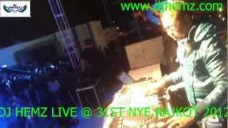 dj hemz live @ rajkot 31st  dec dj  night 2012