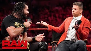 "The Miz grills Seth Rollins on ""Miz TV"": Raw, June 3, 2019"