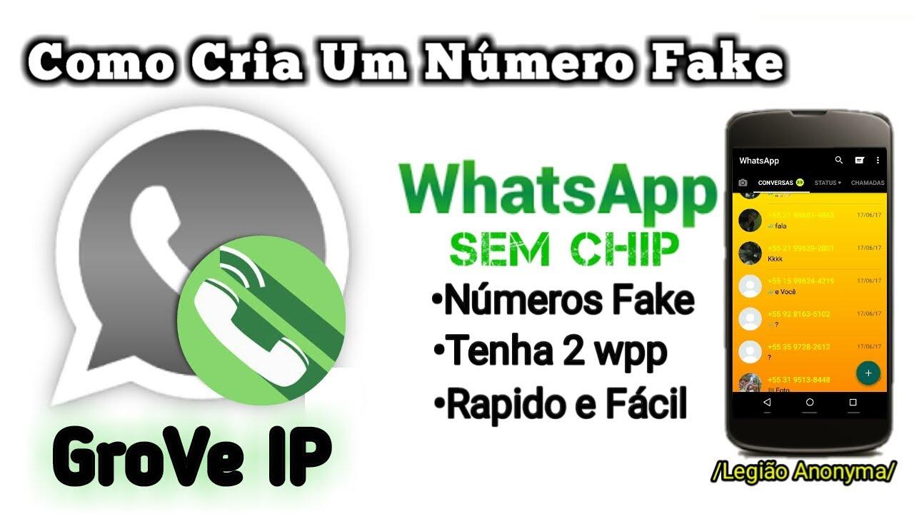 COMO CRIA NÚMERO FAKE •Whatsapp sem Chip) Números Gringo