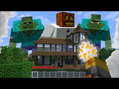 GIANT MUTANT CREATURES APPEAR IN MY HOUSE IN MINECRAFT !! Minecraft House Battle Mods thumbnail
