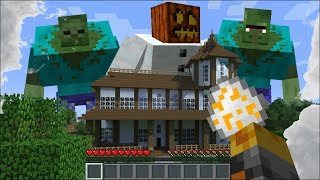 GIANT MUTANT CREATURES APPEAR IN MY HOUSE IN MINECRAFT !! Minecraft House Battle Mods