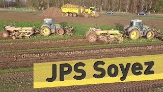 Arrachage Betteraves JPS SOYEZ : 12 rangs & MEGASTAR RD80 - Sugar Beet Harvest 12 rows - Drone Vidéo