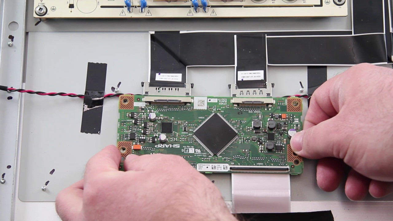 Vizio E701i A3 Runtk5261tpzh T Con Replacement Tutorial Video Youtube Board Circuit Diagram