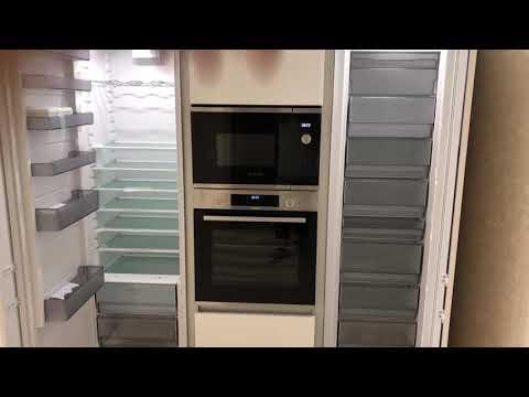 Кухня с вертикальным профилем Schuco на колоне. ОБЗОР # 14
