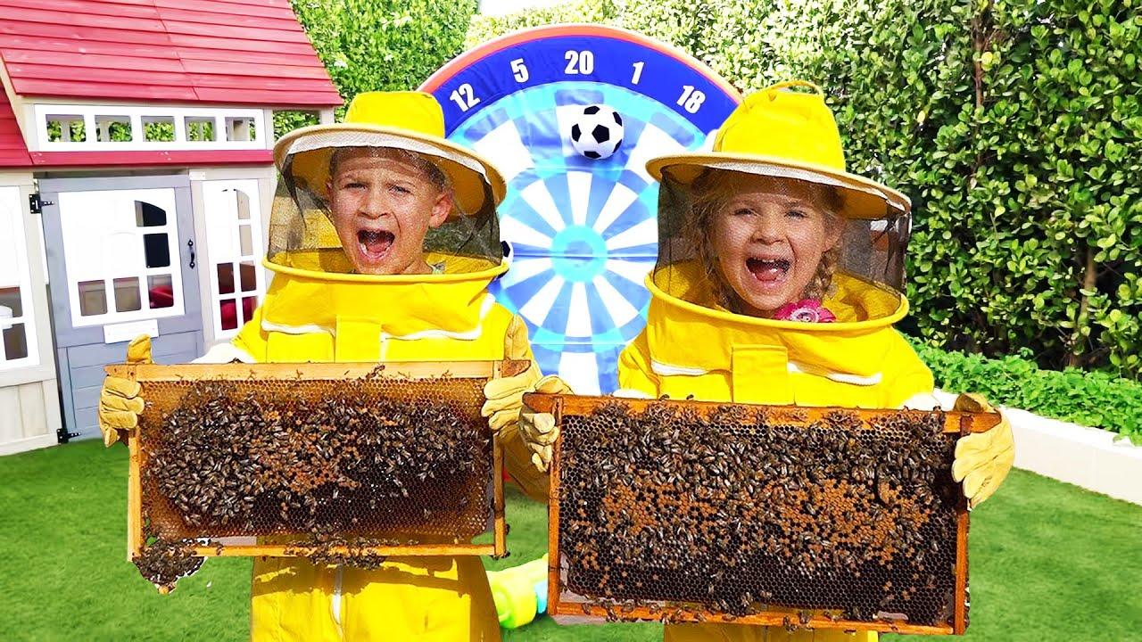 Diana dan Roma belajar tentang Lebah, Perjalanan keluarga yang menyenangkan