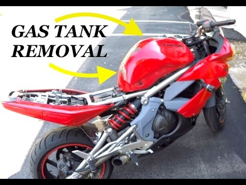Removing Gas tank {WITHOUT} emptying it (09' Ninja 650r)