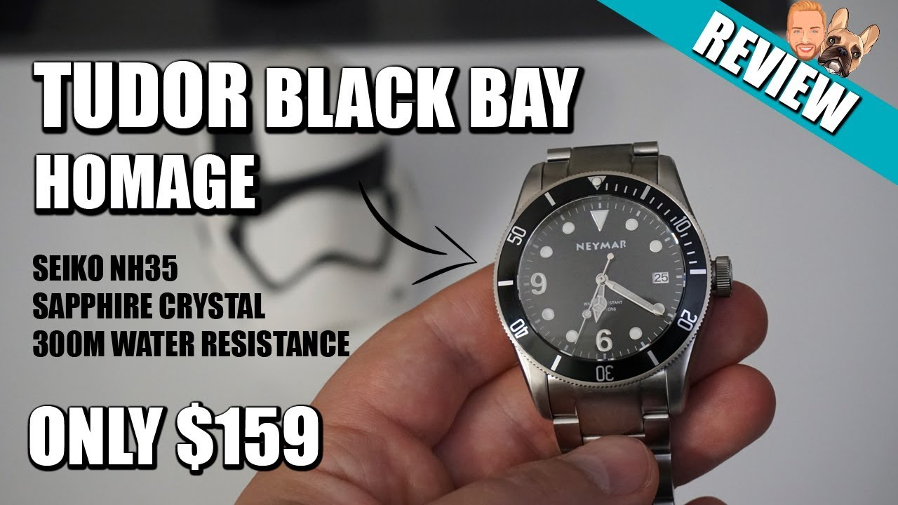 5be136eaf Neymar Automatic - A Tudor Black Bay Homage 300m Diving Watch Review ...
