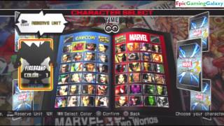 Ultimate Marvel VS Capcom 3 Team Battles Of Iron Fist, Nemesis-T Type, and Nova