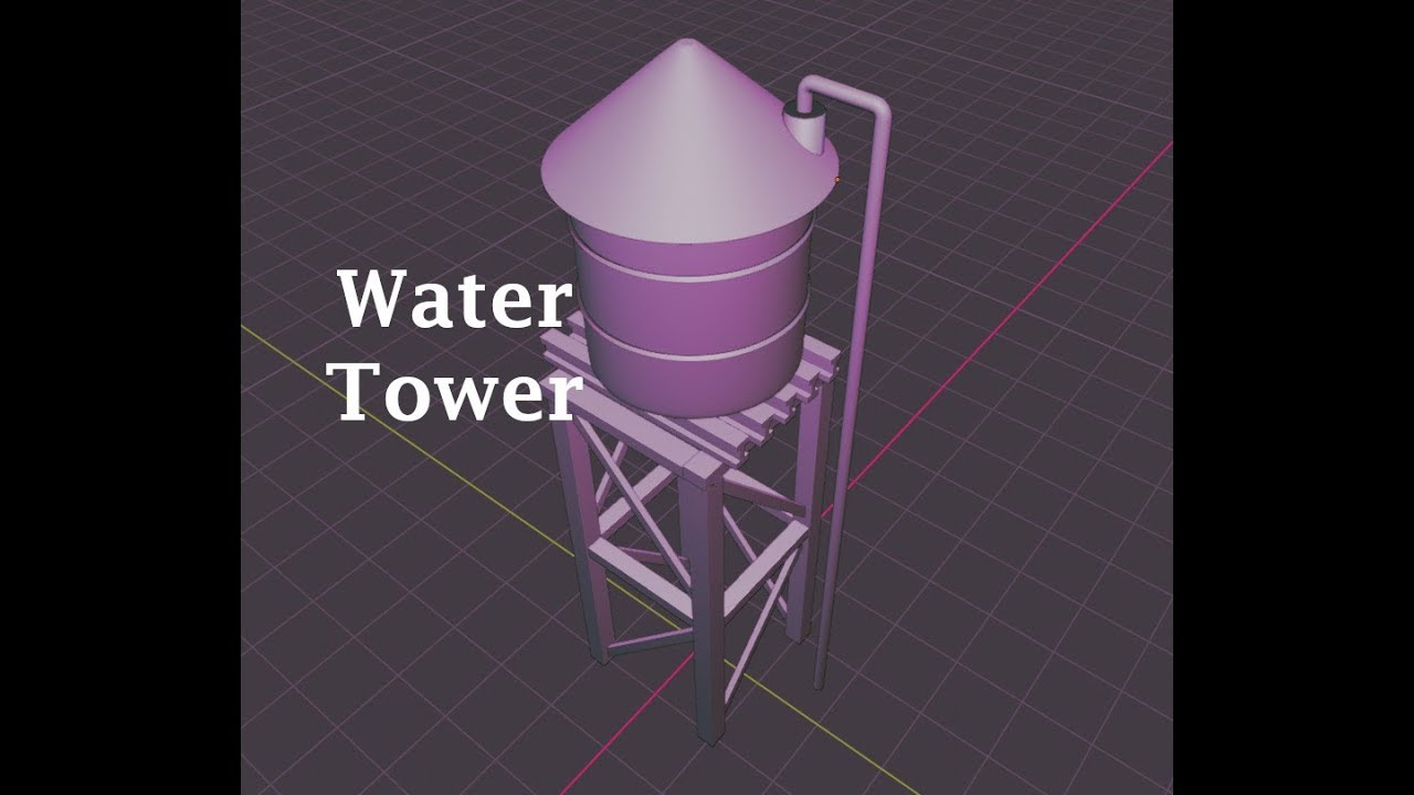 Blender 2.8: Modeling a Water Tower (Part 1)