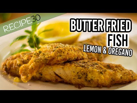 Crusted Butter Fried Fish With Lemon And Oregano