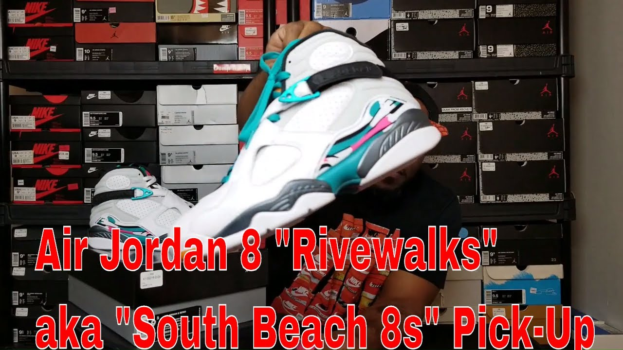5acf4b137513 Air Jordan 8 Riverwalks aka South Beach 8s - YouTube