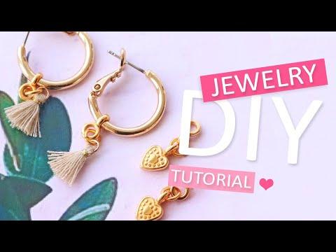 DIY Tutorial - Auswechselbare Ohrringe – Selbst Schmuck machen