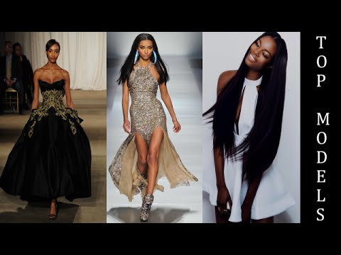 Most Beautiful Models In The World Top Black Supermodels - Models wearing amazing dresses in the worlds most beautiful locations