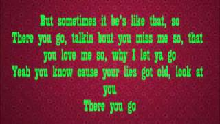 Pink- There You Go (With Lyrics)