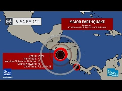 POWERFUL MAGNITUDE 7.4 EARTHQUAKE STRIKES OFF COAST OF EL SALVADOR MONDAY NIGHT (OCT 14, 2014)