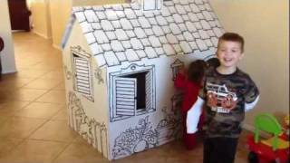 Discovery Kids Color Me Cardboard Playhouse ~ Kids Indoor Playhouse ~ Playhouses For Kids