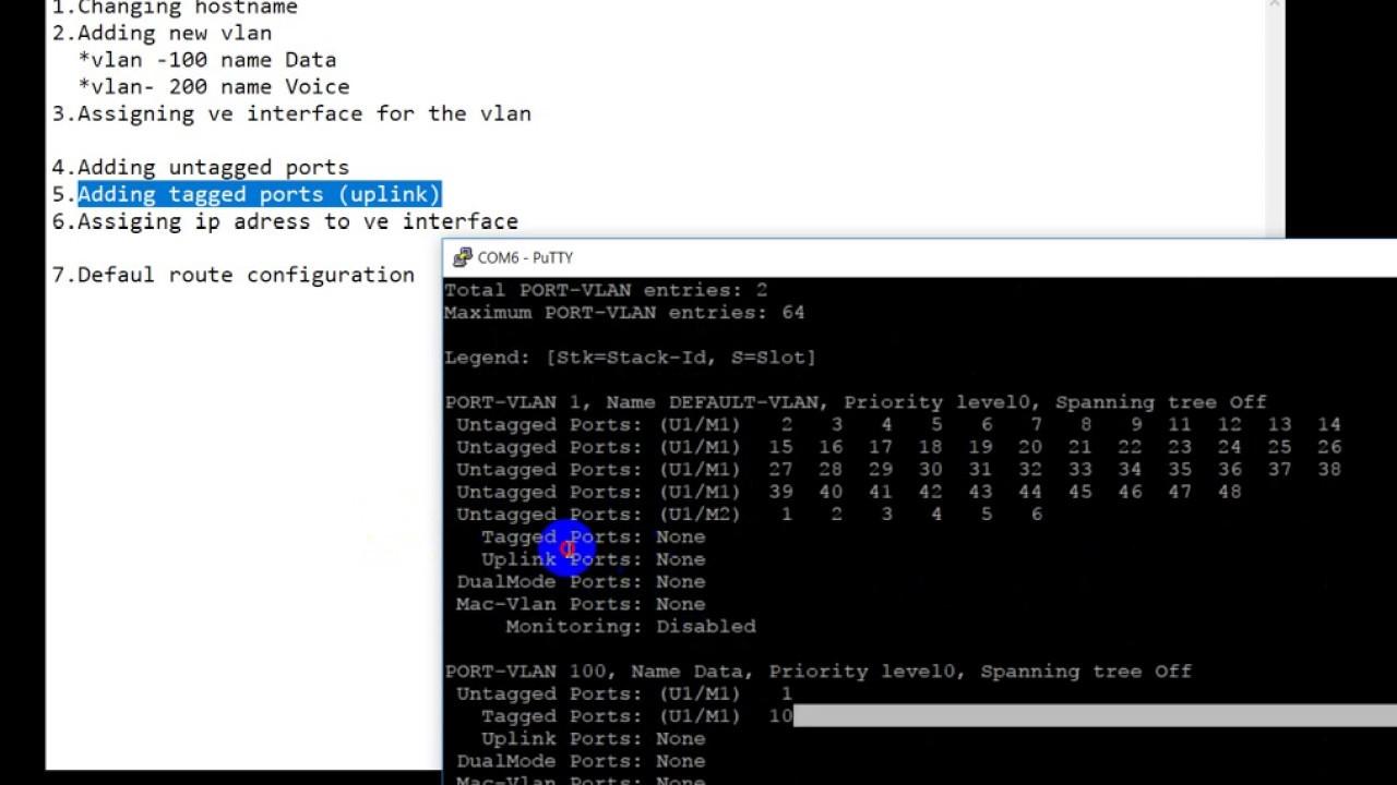 Brocade ICX Swith basic configuration