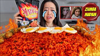 NEW! NUCLEAR FRIED RICE + SPICY FRIED SEAWEED ROLLS MUKBANG | Eating Show
