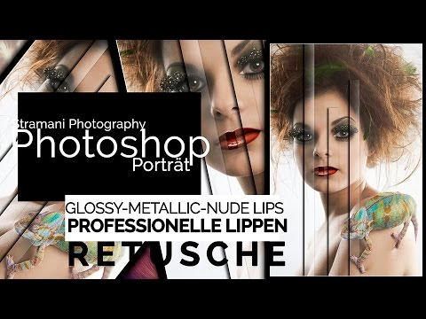 Lippen Retusche   Glossy, Metallic, Nude Lips ✪ Photoshop Tutorial Deutsch ✪