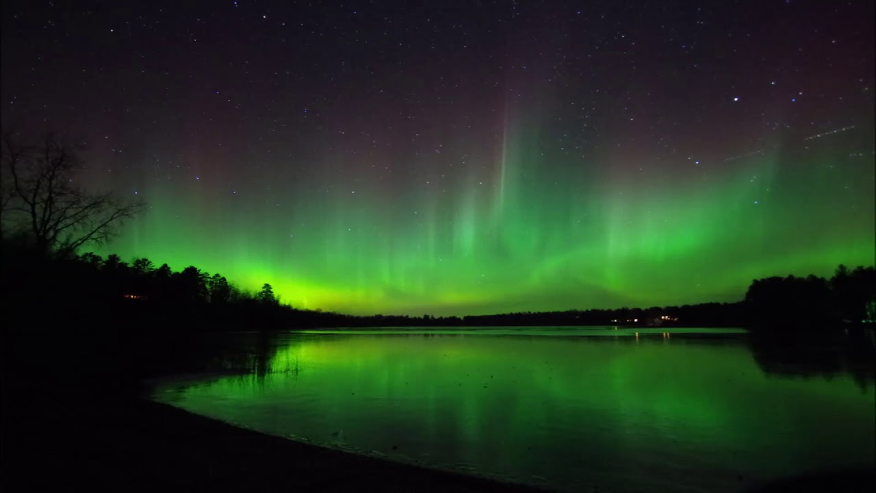 Northern Lights In Park Rapids Mn On Nov 7 2017 Youtube