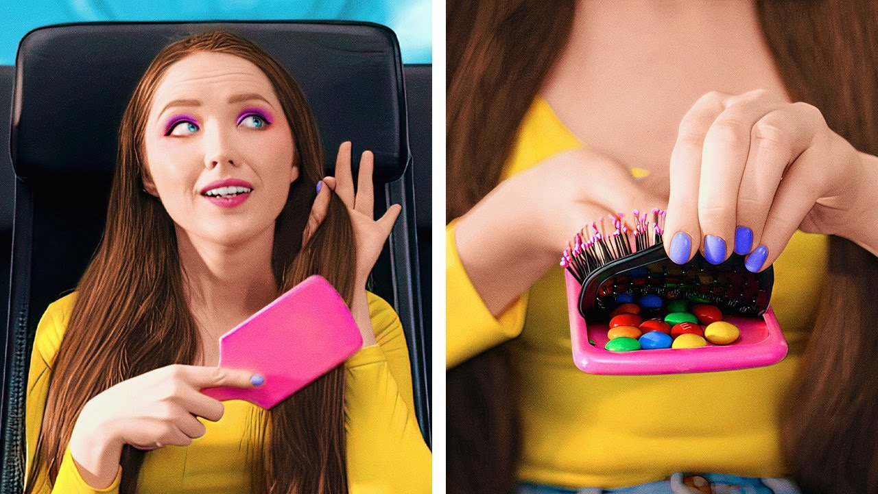 HOW TO SNEAK FOOD ANYWHERE! Crazy And Funny Food Hacks