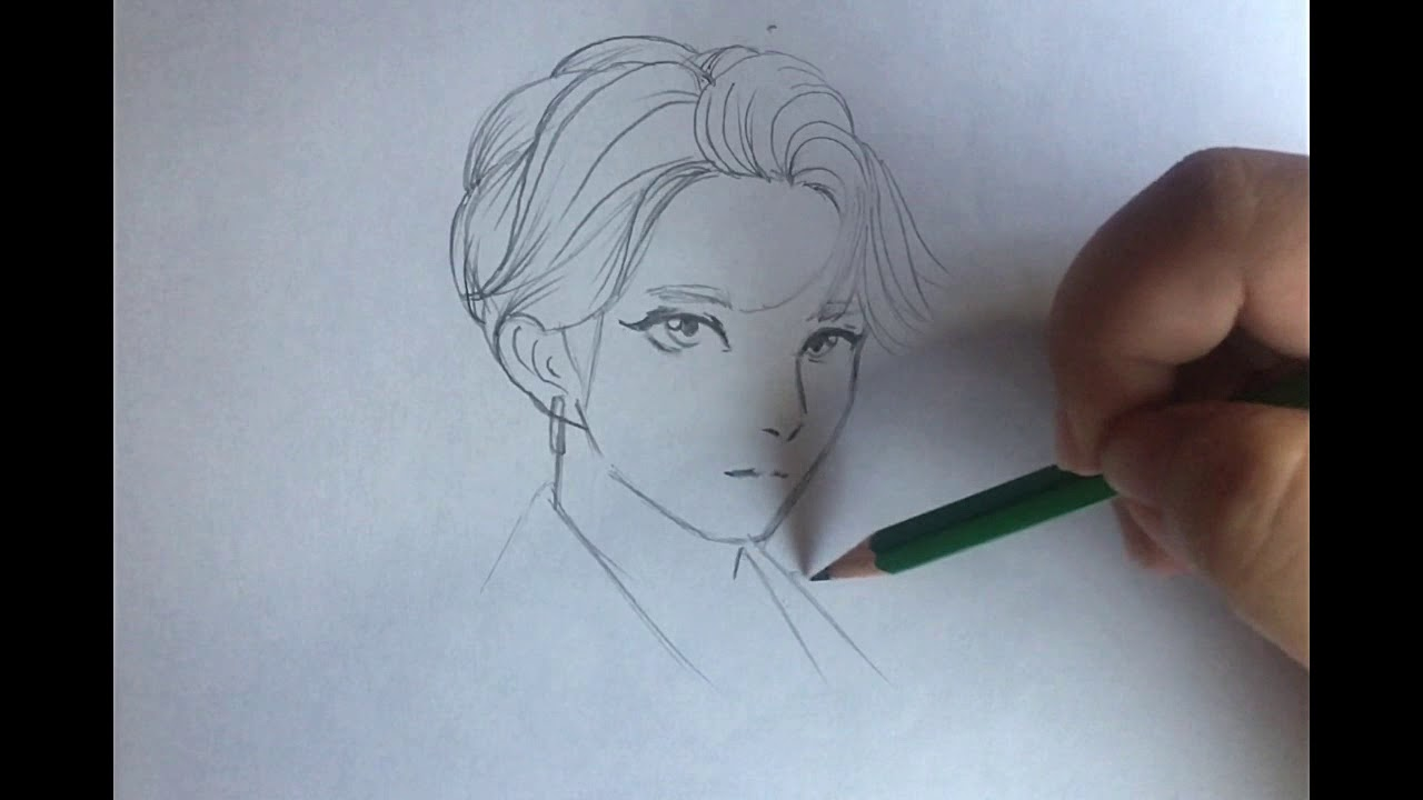 Drawing Jungkook Anime Style