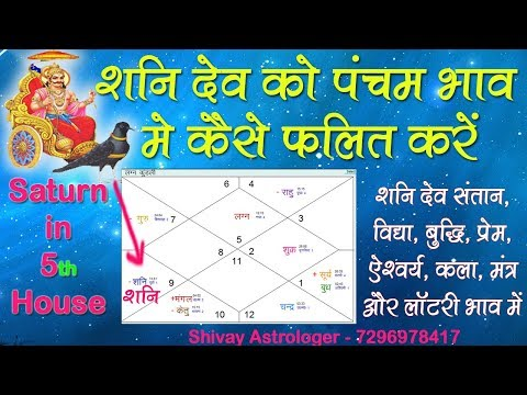 LAL KITAB ASTROLOGY: SATURN IN 5th HOUSE (HINDI) - YouTube