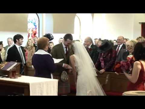 Wedding Vows Glasgow Scotland By KB Wedding Video DVD Glasgow Scotland