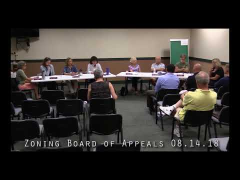 Zoning Board of Appeals 08.14.18