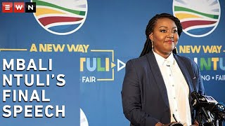 Mbali Ntuli, who is going against interim leader John Steenhuisen for the top spot in the Democratic Alliance, delivered her final speech before voting began. The DA held their elective conference from 31 October 2020.